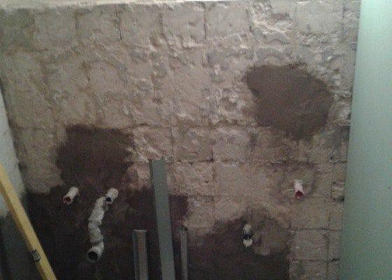 Renovace zděné koupelny, WC