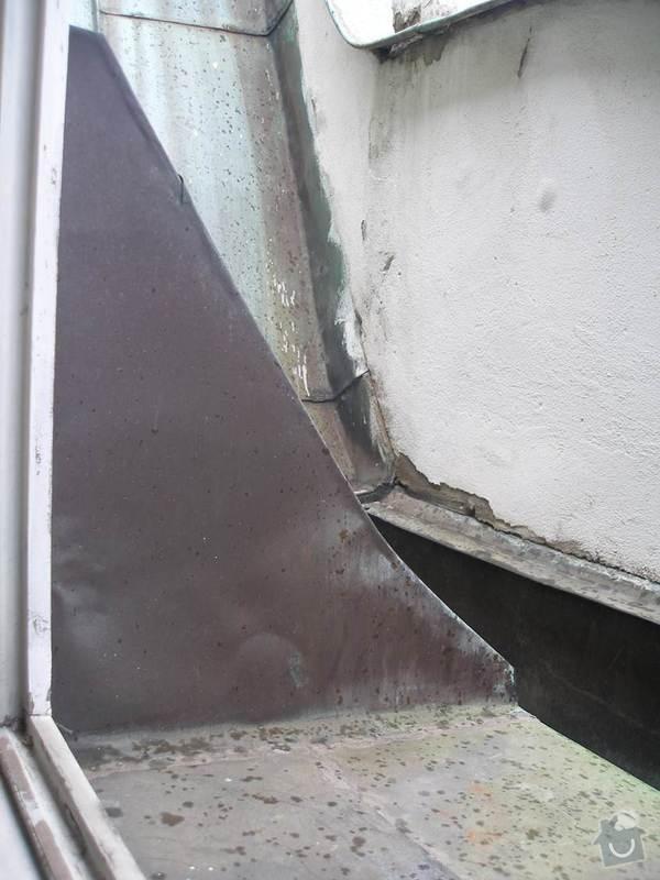 Výměna oken za dřevěná eurookna (7 ks), výměna dřevěných trámů, ve kterých jsou okna ukotvena, oprava, příp. výměna vnějšího oplechování: Obrazek8