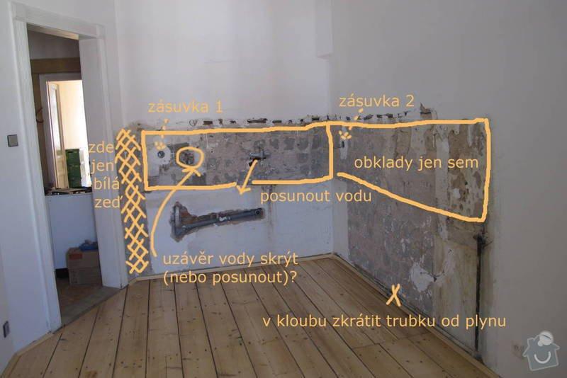 Rekonstrukce kuchyně: zadani