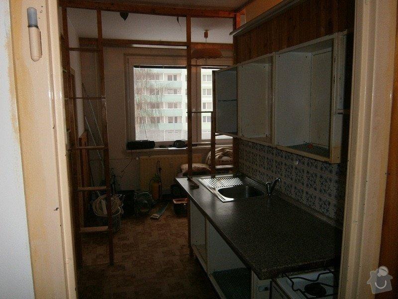 Rekonstrukce bytového jádra, kuchyně, předsíně, obývacího pokoje v panelovém domě (3+1): 5