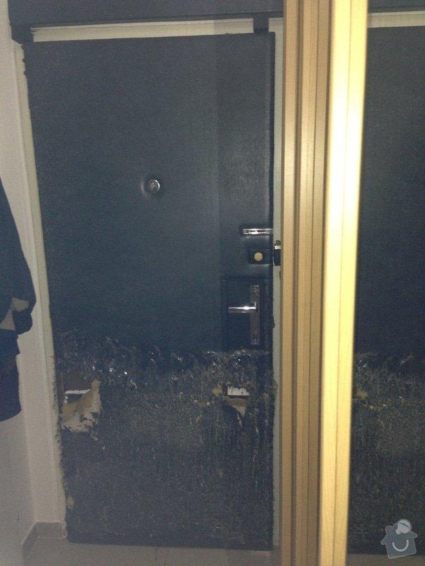 Oprava čalounění bezpečnostních dveří: dvere