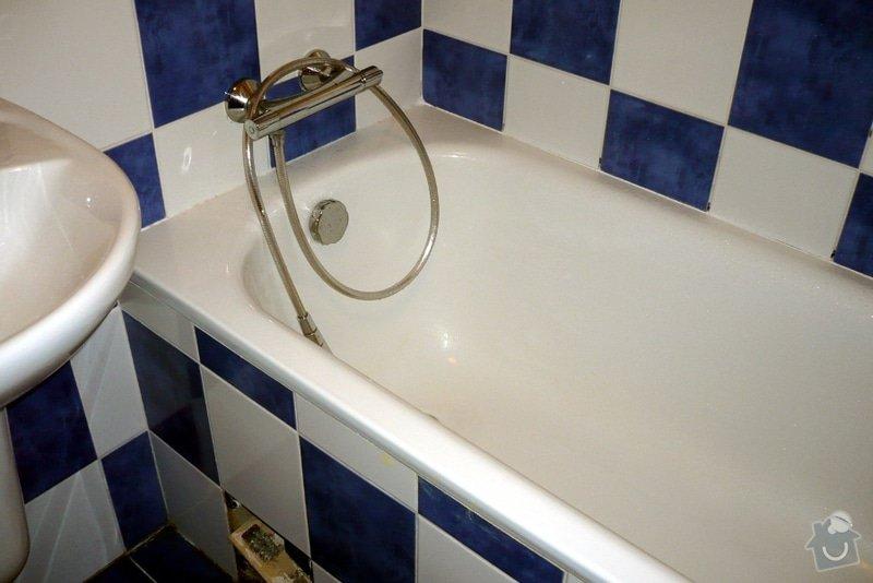 Řešení zatékání vody za vanu: p4
