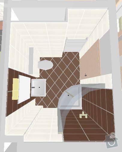 Obklady a dlazby: 1NP-koupelna-vizual0