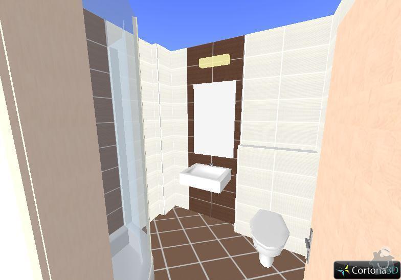 Obklady a dlazby: 1NP-koupelna-vizual1