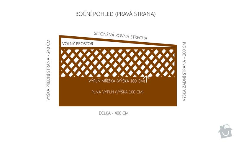 Výroba a montáž dřevěného altánu, 240 x 400 x 240 cm: bocni_pohled