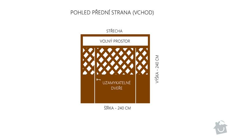 Výroba a montáž dřevěného altánu, 240 x 400 x 240 cm: predni_strana