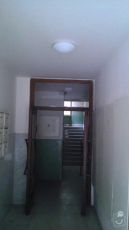 Instalace pohybových čidel a jejich napojení na osvětlení činžovního domu: IMAG1861