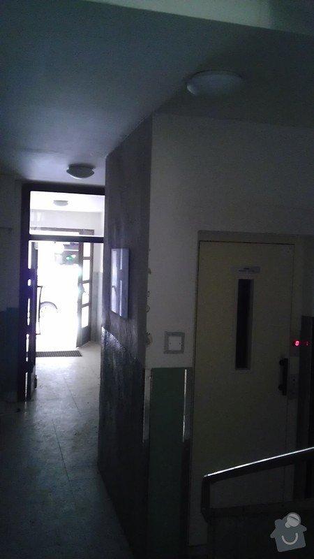 Instalace pohybových čidel a jejich napojení na osvětlení činžovního domu: IMAG1862