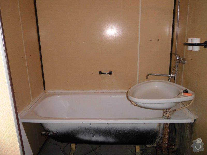 Předělání koupelny a WC z jádra v panelovém bytě: Koupelna