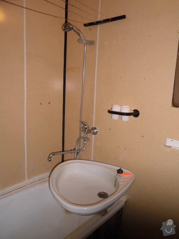 Předělání koupelny a WC z jádra v panelovém bytě: Koupelna2