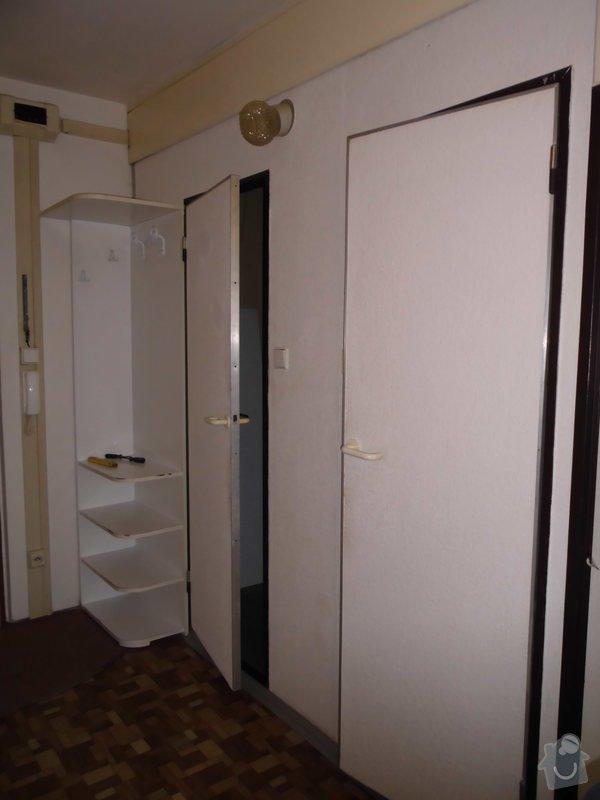 Předělání koupelny a WC z jádra v panelovém bytě: Chodba