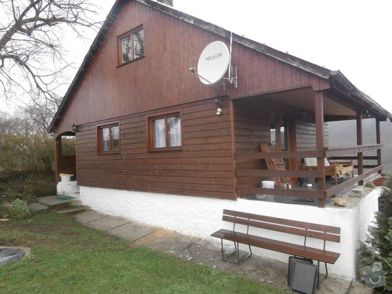 Nátěr dřevěného obkladu chaty: P4200268