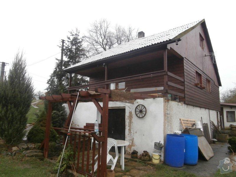 Nátěr dřevěného obkladu chaty: P4200269