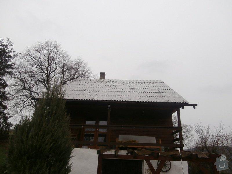 Nátěr dřevěného obkladu chaty: P4200270
