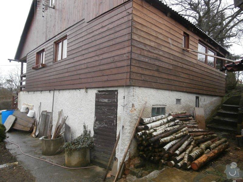 Nátěr dřevěného obkladu chaty: P4200273