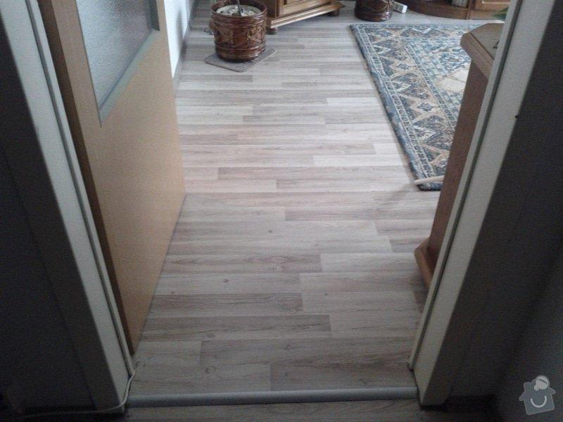 Pokládka plovoucí podlahy: ob.pokoj