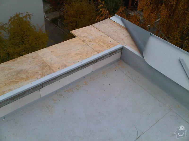 Hydroizolace ploché střechy se zateplením EPS: IMG00286-20111109-1045