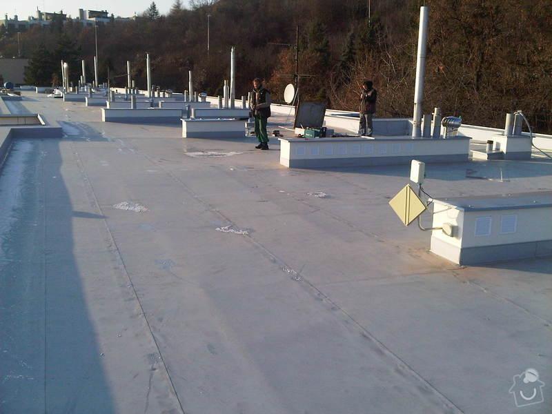 Hydroizolace ploché střechy se zateplením EPS: IMG00302-20111129-1419