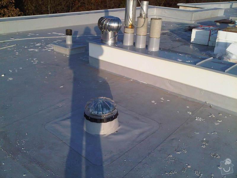 Hydroizolace ploché střechy se zateplením EPS: IMG00304-20111129-1424