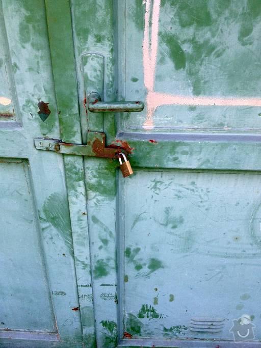 Oprava zámku garážových vrat: Garaz002