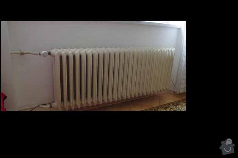 Topenarske prace - vymena radiatoru: obyvak