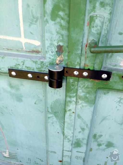 Oprava zámku garážových vrat: Garaz004