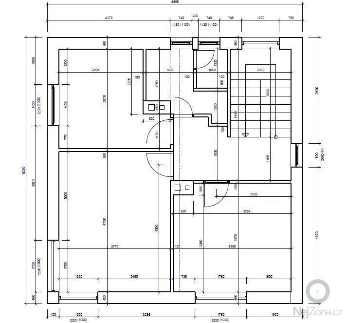 Rekonstrukce 2 patra rodinného domu: Stavajici_stav