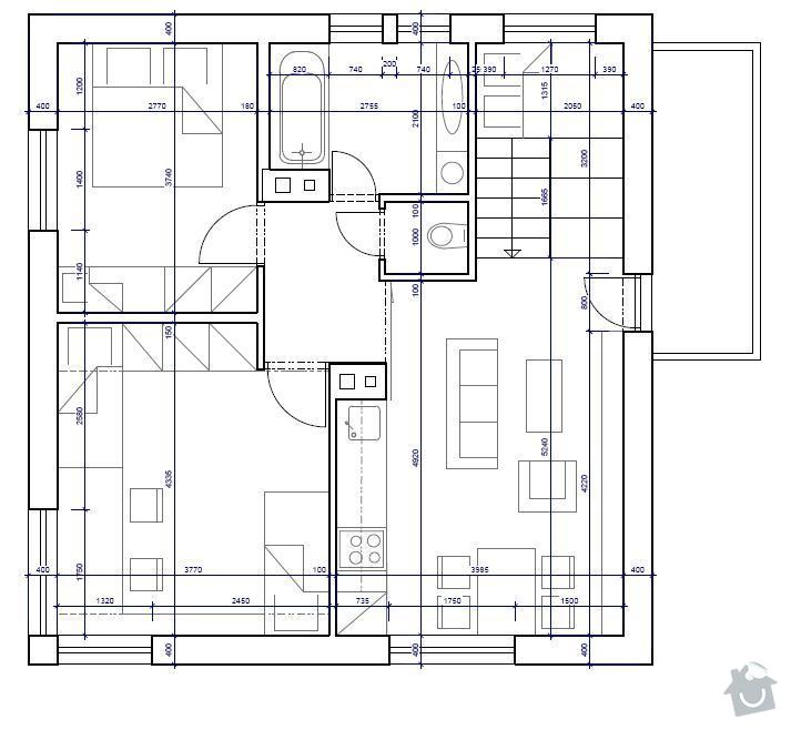Rekonstrukce 2 patra rodinného domu: Planovane