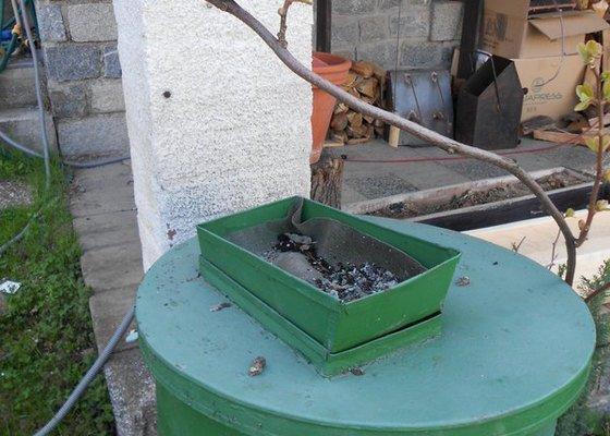 Výroba krytu na sud s dešťovou vodou 2ks