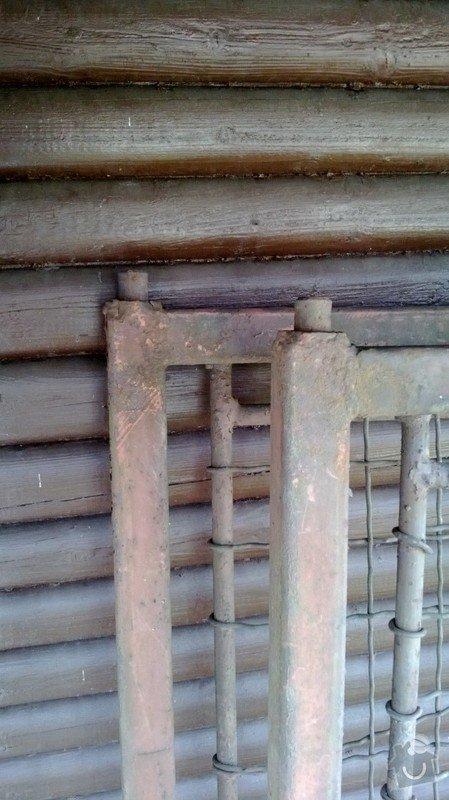 Stavba vjezdové brány: WP_20130413_001