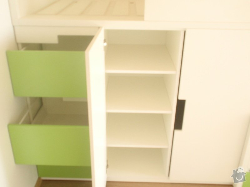 Drobné stavební úpravy + výroba postelí do dětského pokoje: DUBEN2013_146