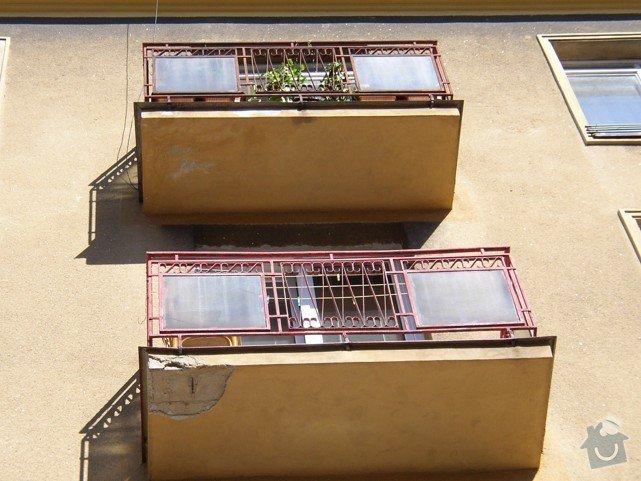 Stavební práce - oprava balkonů: P8150486