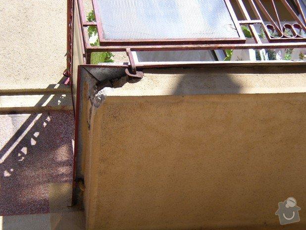 Stavební práce - oprava balkonů: P8150479