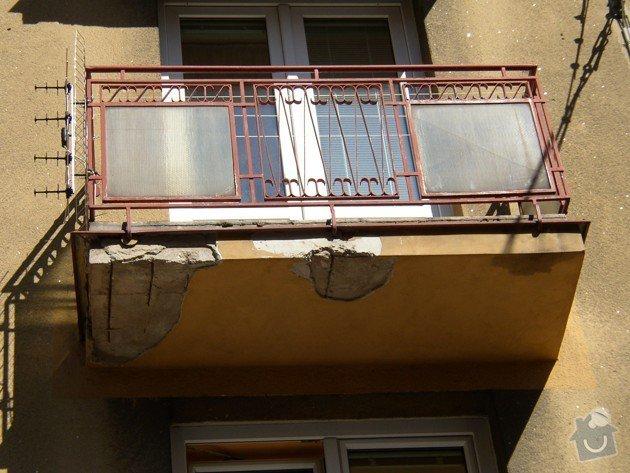 Stavební práce - oprava balkonů: P8150485