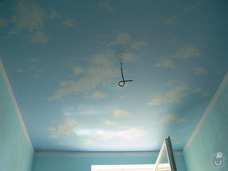 Dekorace stropu v dětském pokoji letním nebem: P1220200