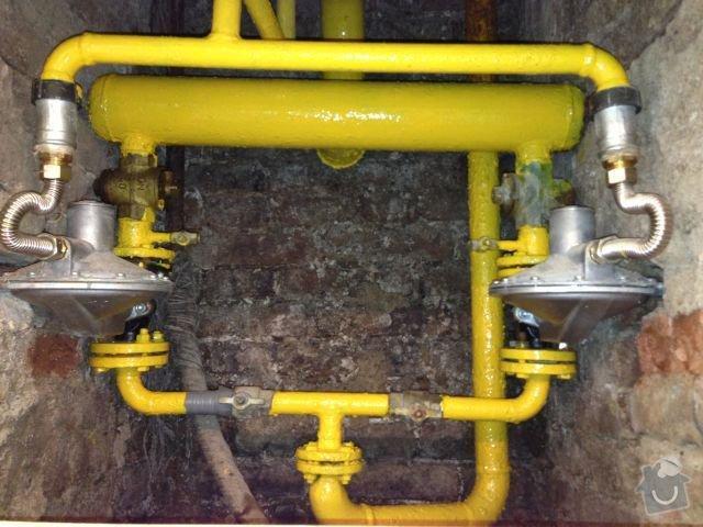 Nátěr plynového potrubí: plyn