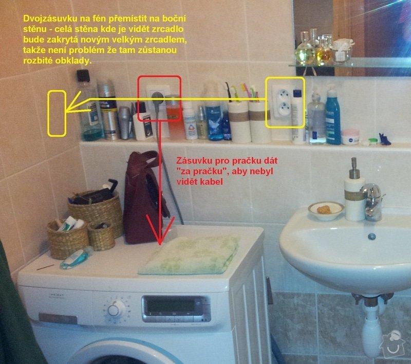 Přemístění dvou zásuvek v koupelně: premisteni_zasuvek