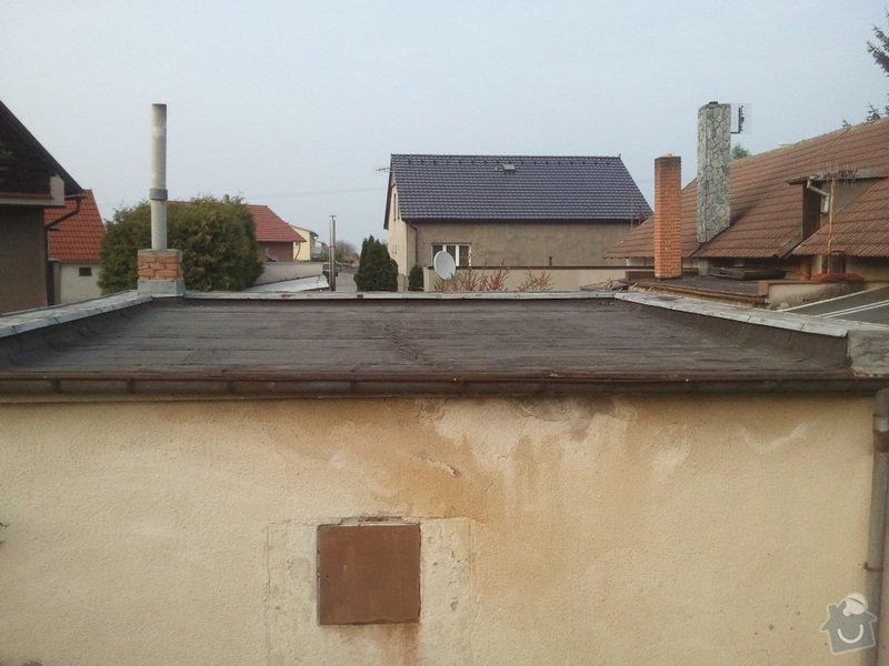 Rekonstrukce ploché střechy - změna na terasu: Fotografie3398