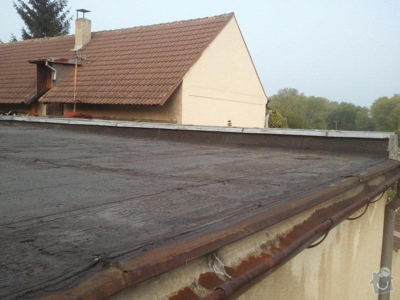 Rekonstrukce ploché střechy - změna na terasu: Fotografie3402