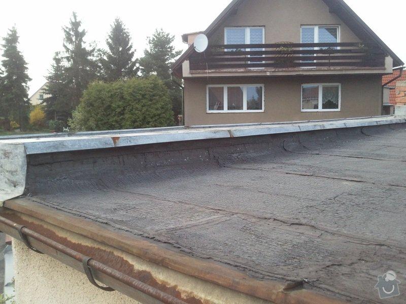 Rekonstrukce ploché střechy - změna na terasu: Fotografie3400