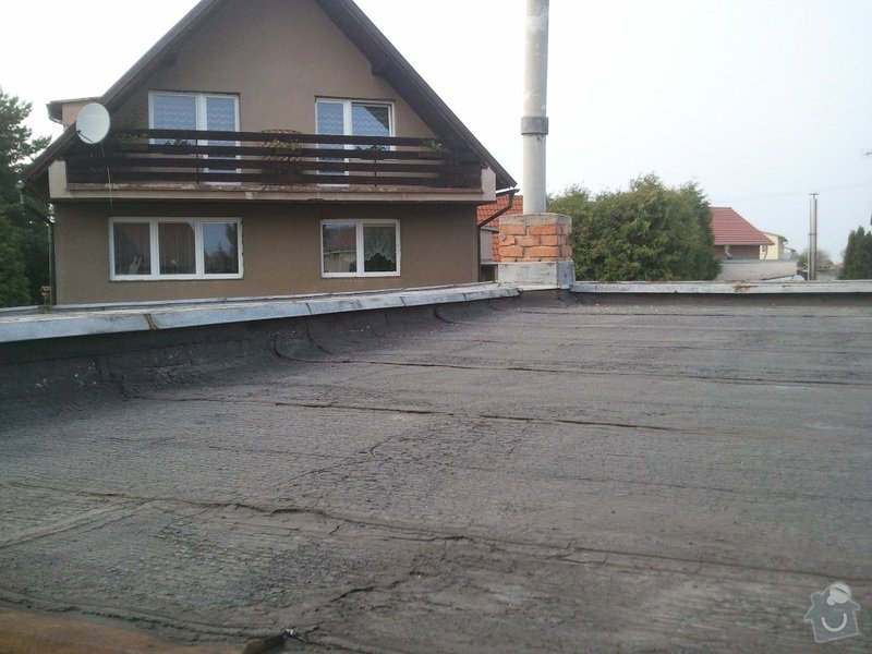 Rekonstrukce ploché střechy - změna na terasu: Fotografie3401
