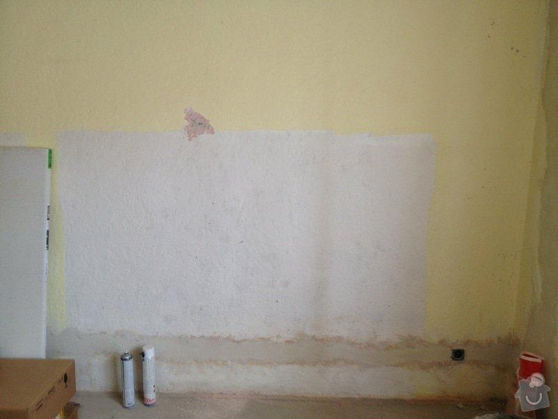 Oškrabání, vytmelení a vymalování stěn: 229