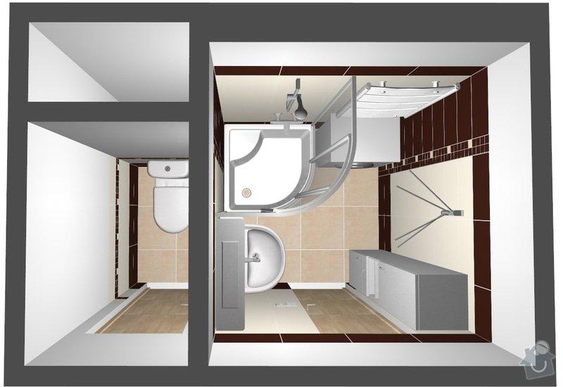 Rekonstrukce bytového jádra: 001_pudorys_3D