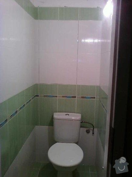 Obložení záchodu včetně podlahy: zachod