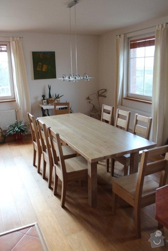 Stůl jídelní dub masiv + 8 židlí na zakázku: IMG_6465