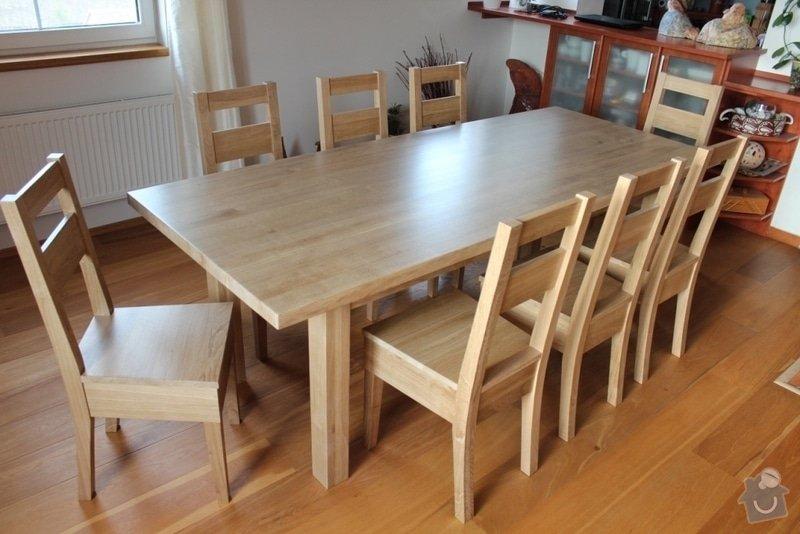 Stůl jídelní dub masiv + 8 židlí na zakázku: IMG_6466
