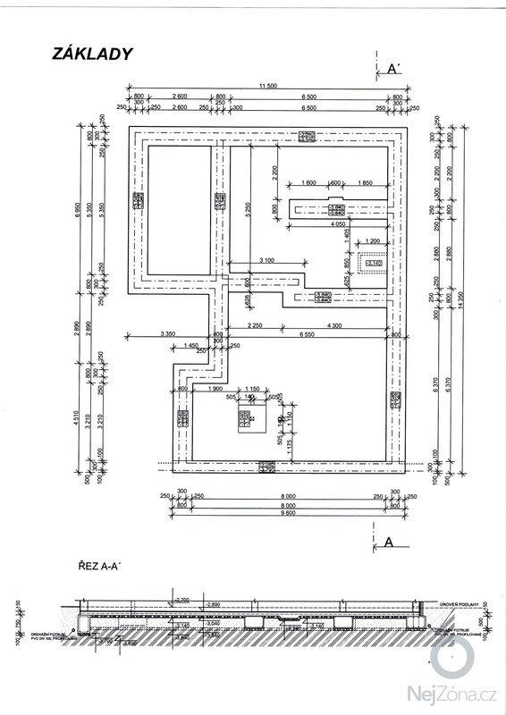Stavba základů a podsklepení RD: 1