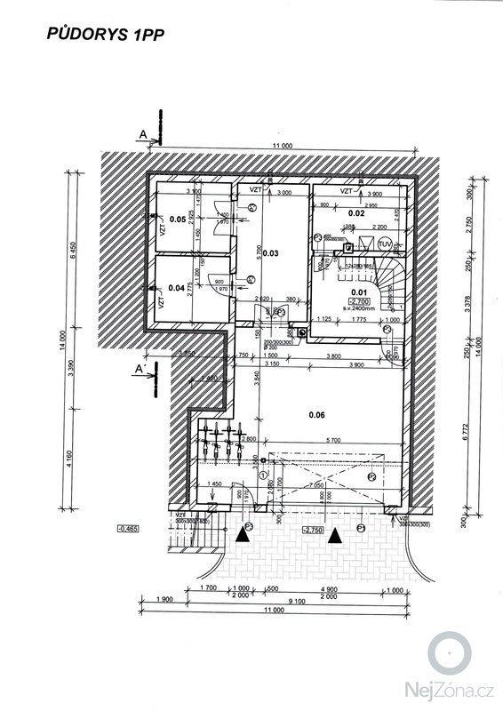 Stavba základů a podsklepení RD: 7
