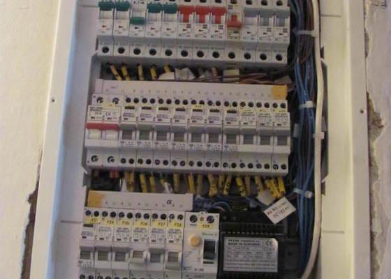 Elektroinstalace obývacího pokoje