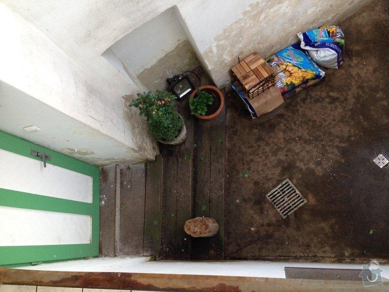 Malá zakázka - Zednické a malířské práce, drobně opravy.: schody